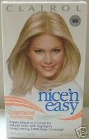 Clairol NICE'N EASY Hair Color 99 Natural Palest Blonde NICE AND EASY