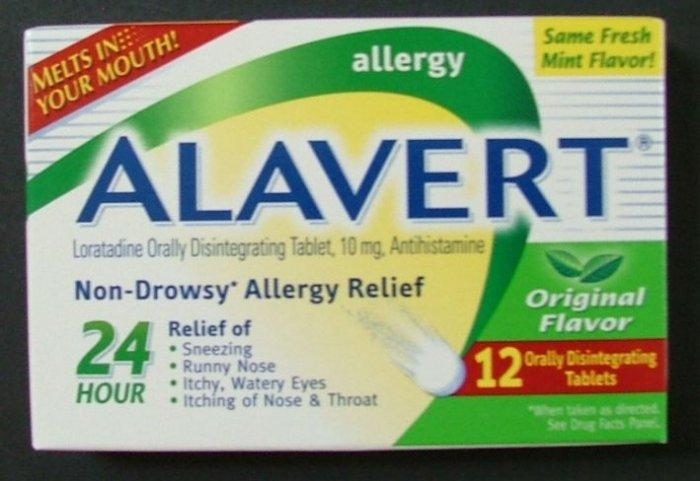 ALAVERT Mint Non-Drowsy Allergy Relief 12 Tablets NIB!