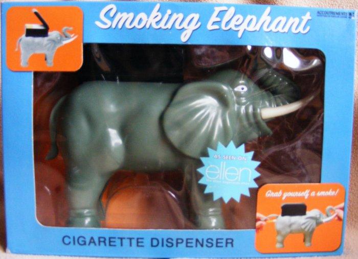 *SMOKING ELEPHANT* Cigarette Dispenser - Hilarious Gag Gift!