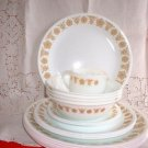 Corelle Butterfly Gold 17 PC LOT