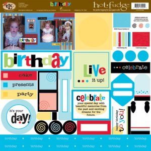 TLC HOT FUDGE Birthday 12 x12 Kit