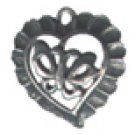 Lot of 12 Pewter Butterfly Hearts Charms Free Shipping