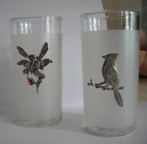 Frosted Glass Clear Lip 5 Inch Tall Glassware Fairy