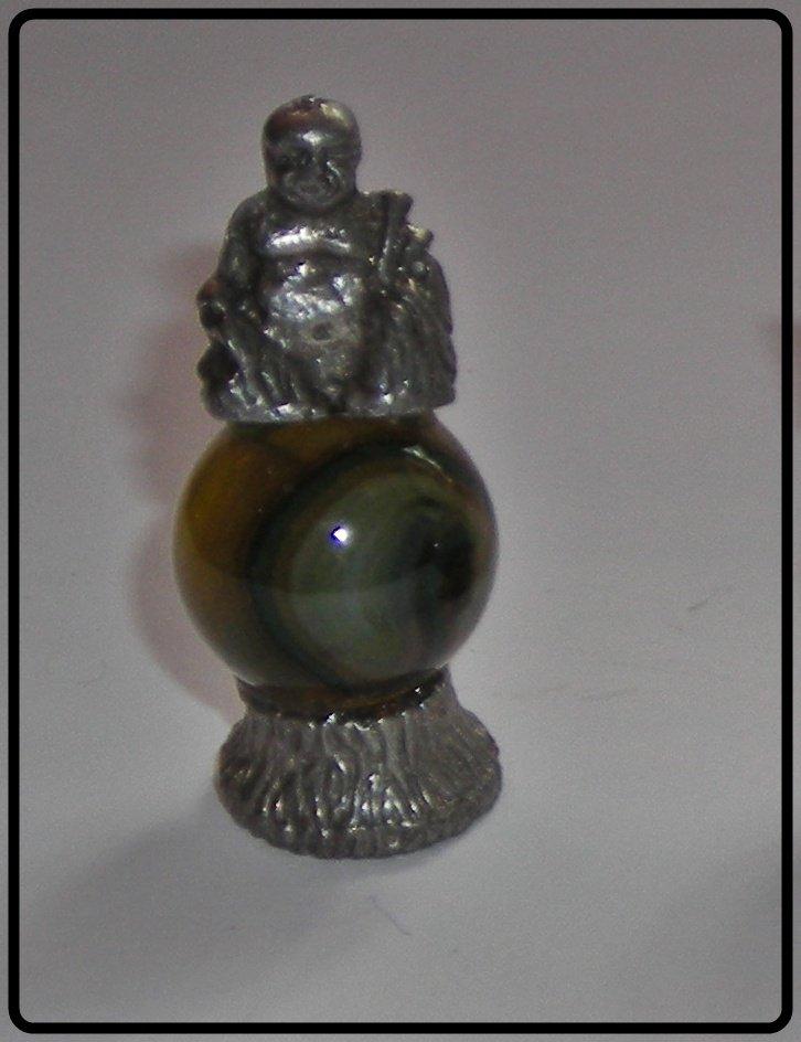 Buda  Mini Pewter Figurines on Marble