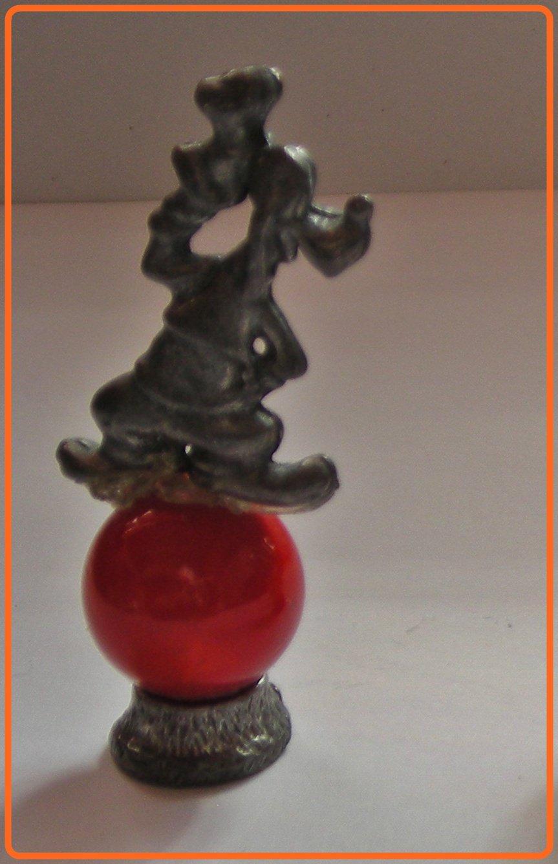 Pluto  Mini Pewter Figurines on Marble