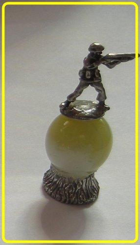soldier  Mini Pewter Figurines on  Marble