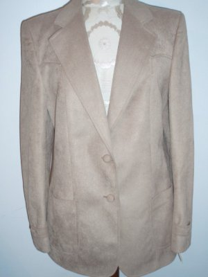 Ms Prestige Camel Ultra Suede Ladies Western Jacket M/L