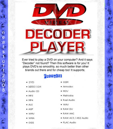 DVD Decoder Player For Windows XP & Vista