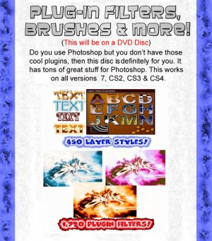 Adobe Photoshop 7, CS2, C3 & CS4 Plugin Filters Brushes & More!