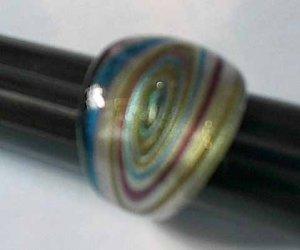 Purple  Swirls MURANO GLASS RING Size 8.5