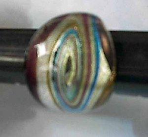 Purple  Swirls MURANO GLASS RING Size 8