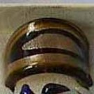 Brown Gold  MURANO GLASS RING Size 9