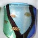 Lt Blue  MURANO GLASS RING Size 7