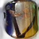 Blue Gold  MURANO GLASS RING Size 6