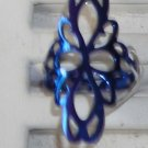 Blue  Metal Ring  Adjustable   New