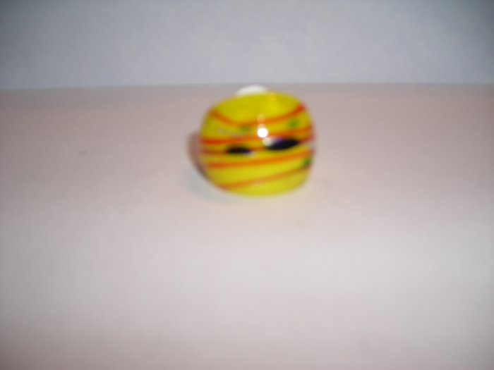Yellow  MURANO GLASS RING Size 8