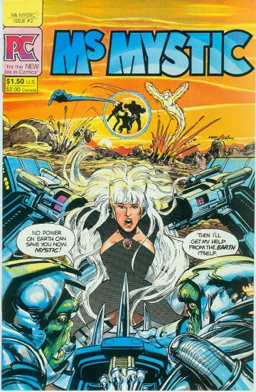 PACIFIC COMICS Ms MYSTIC #2 1984 NEAL ADAMS (FREE SHIPPING)