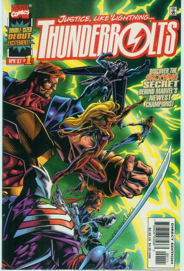 THUNDERBOLTS #1 DEBUT ISSUE DOUBLE SIZE