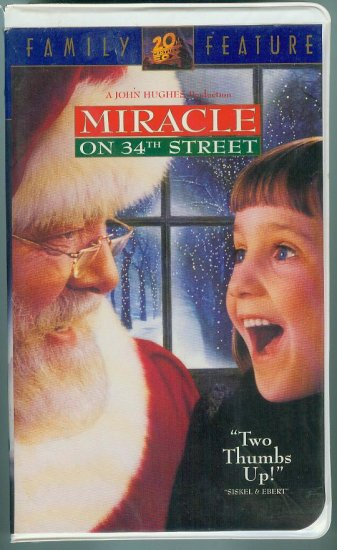 Miracle on 34th Street (VHS, Nov 1995)