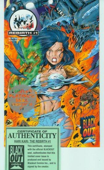 Hari Kari Rebirth #1 (1996) Double Signed C.O.A. (Black Out Comics)