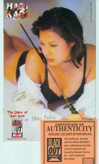 Hari Kari The Diary Of Kari Sun #1/2 (1997) 2x Signed.Variant Photo Cover