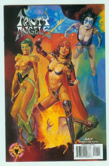 Acclaim Comics Trinity Angels #1 (1997) Variant Painted Cover