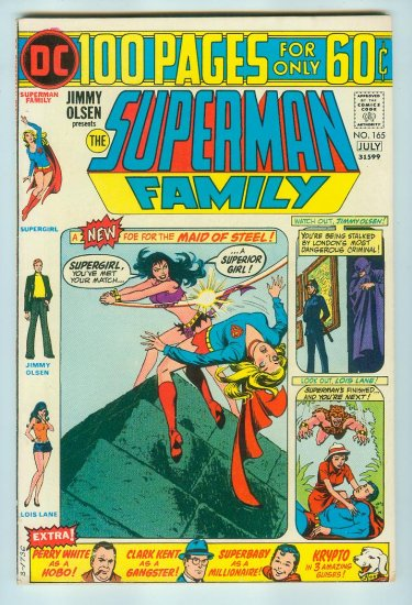 JIMMY OLSEN PRESENTS SUPERMAN FAMILY #165 (1974) BRONZE AGE