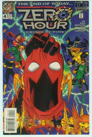 ZERO HOUR #0-4 CRISIS IN TIME (1994) COMPLETE SERIES + ASHCAN