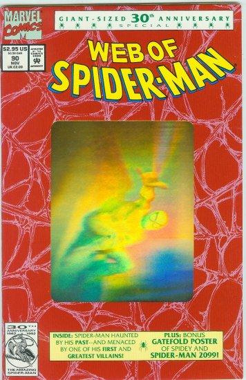WEB OF SPIDER-MAN #90 (1992) GOLD HOLOGRAM COVER
