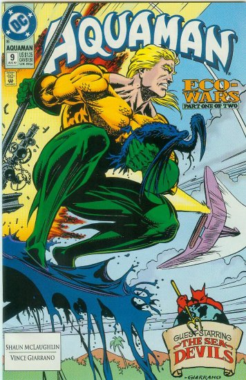AQUAMAN #9 (1992) 2nd SERIES