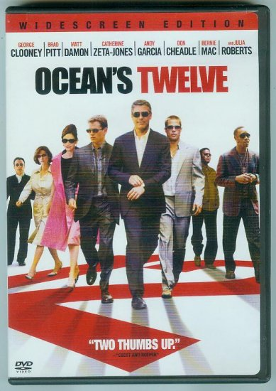 OCEANS TWELVE (2005) (PLAYED ONCE) CLOONEY/DAMON/PITT/ZETA-JONES