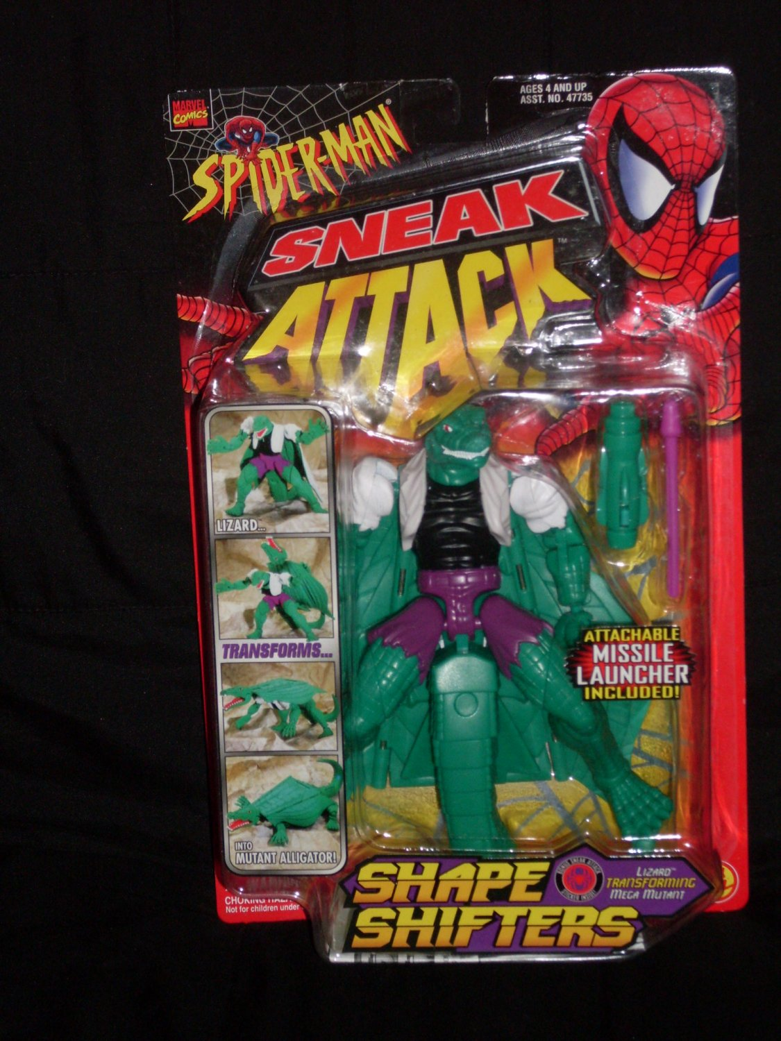 LIZARD SHAPE SHIFTERS FROM SNEAK ATTACK SERIES (1998) Added Shipping Cost Outside USA