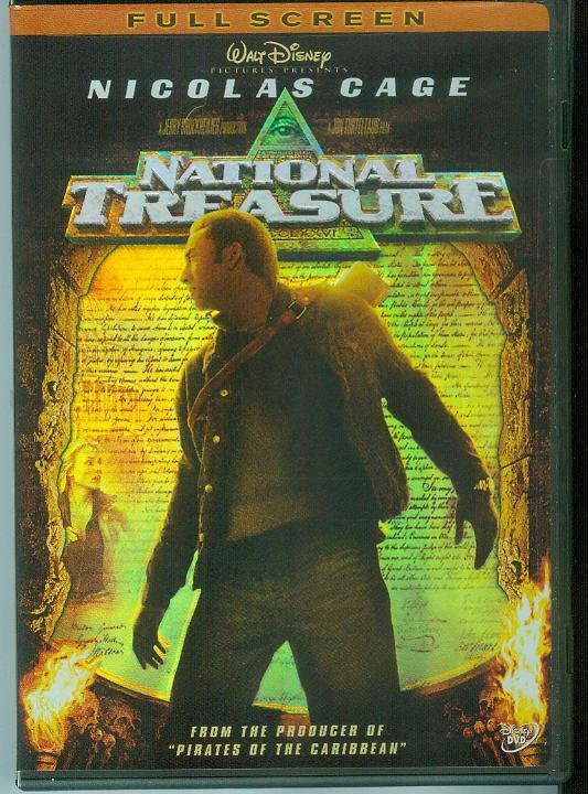 NATIONAL TREASURE (2005) NICOLAS CAGE/HARVEY KEITEL/JON VOIGHT (VIEWED ONCE)