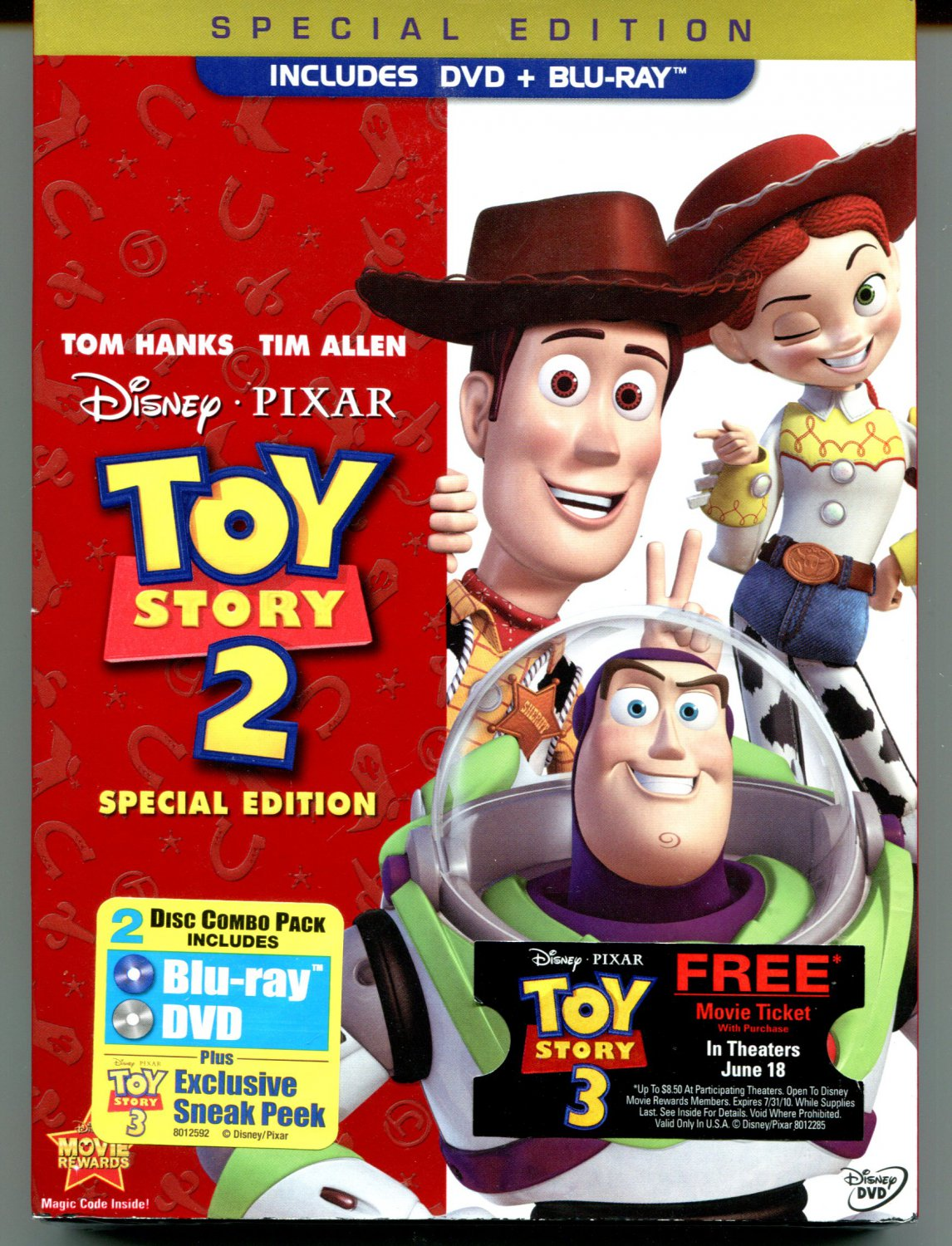 Toy Story 2 (Blu-ray / 2010 DVD, 2-Disc Set, Special Edition)