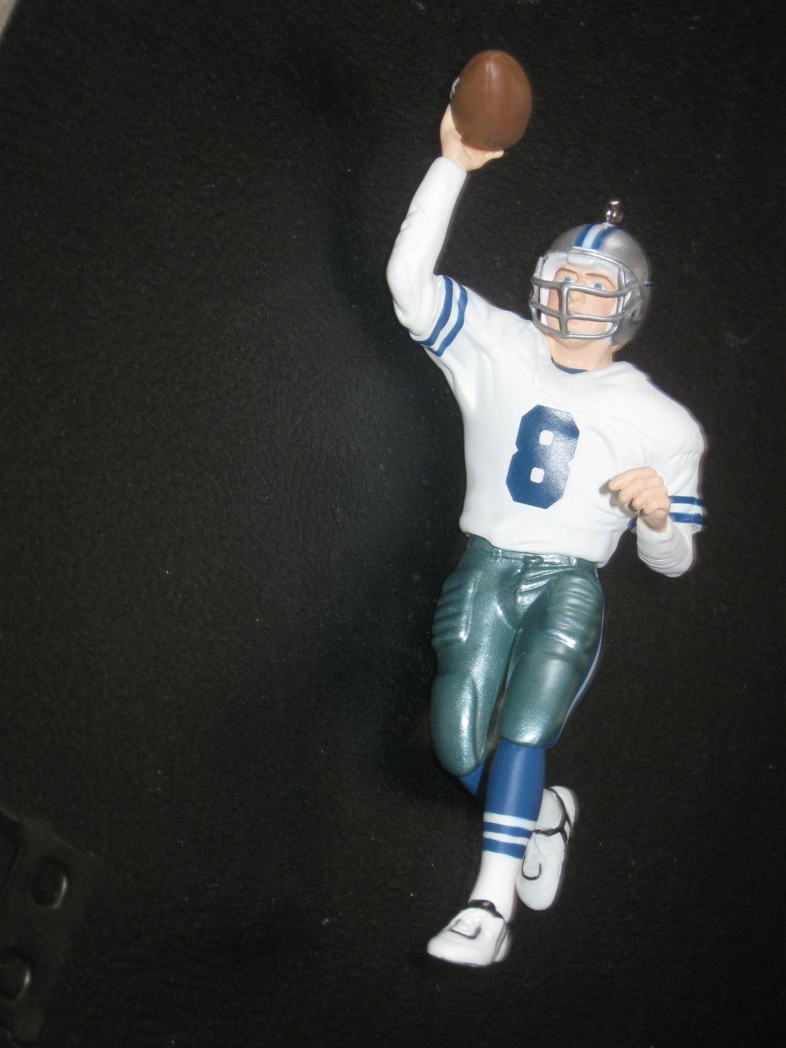 Hallmark Troy Aikman Ornament With Troy Aikman Trading Card