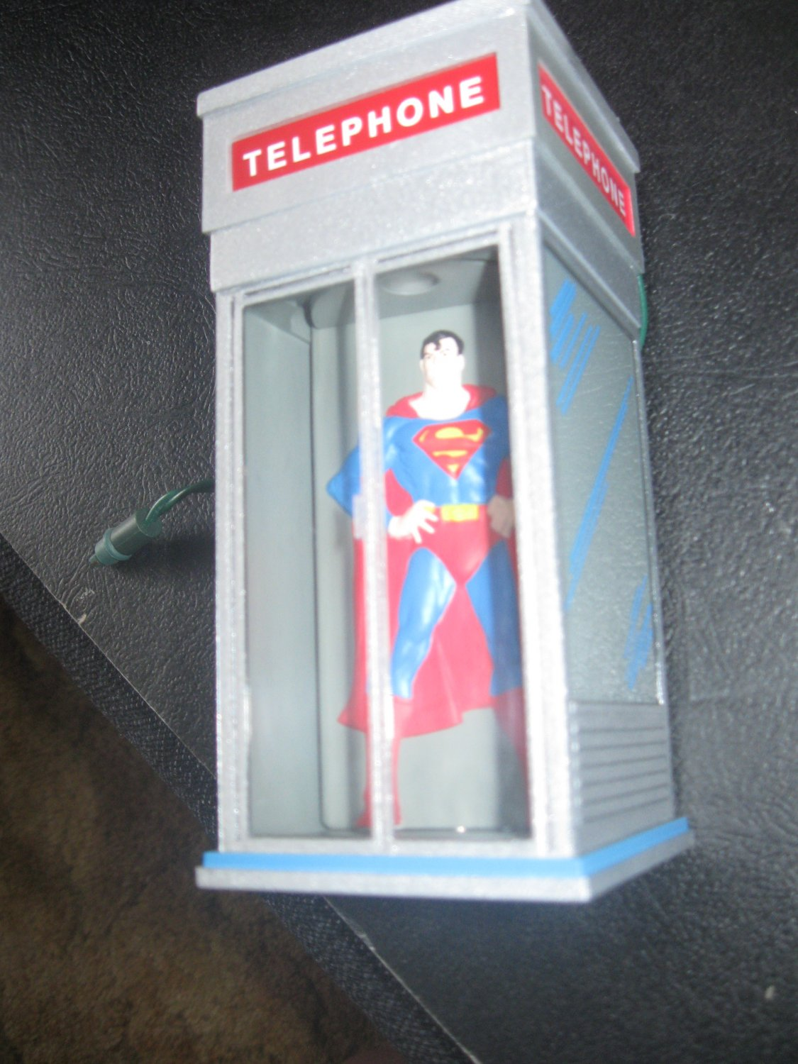 Superman in Telephone Booth Magic Light Motion Keepsake Ornament