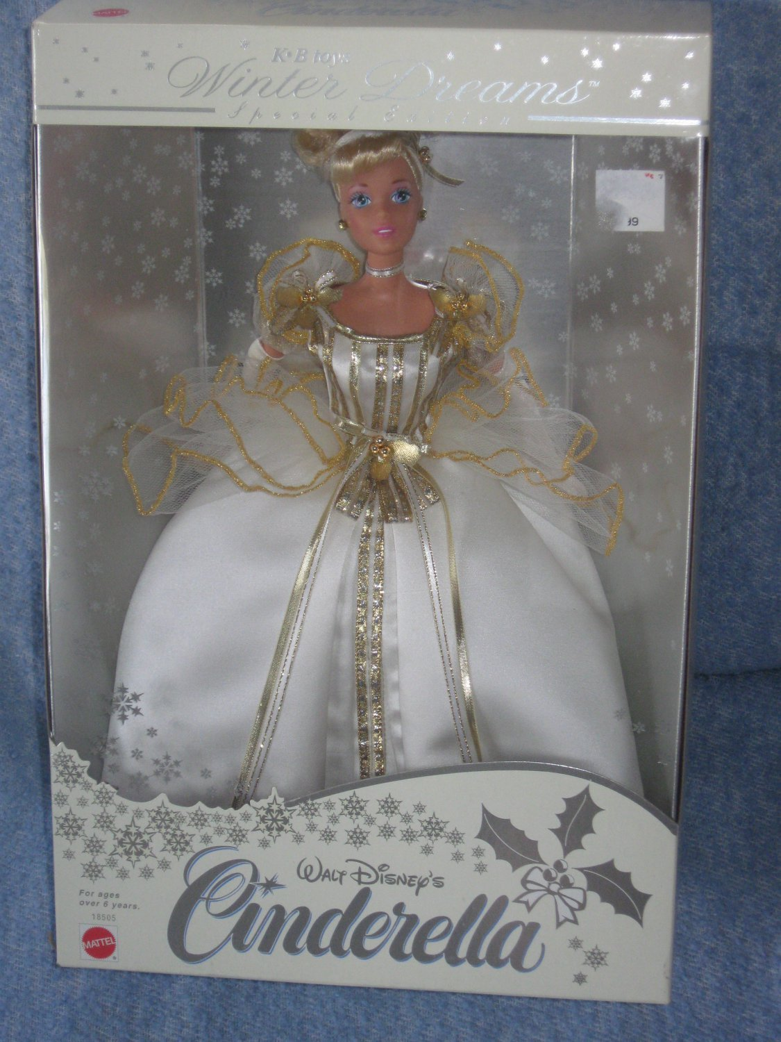 Barbie as Cinderella, KB Toys Winter Dreams Special Edition 1997 Added Shipping Cost Outside USA