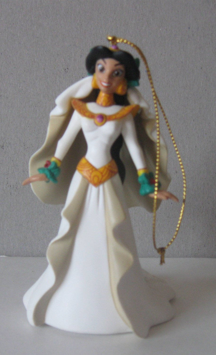 Disney Grolier Aladdin king of thieves Jasmine Collectible Christmas Ornament