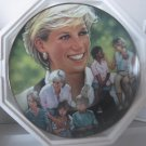 "Princess Diana ""Angel of Hope"" Franklin Mint Plate Platinum Trim COA Added Shipping Cost Outside USA"