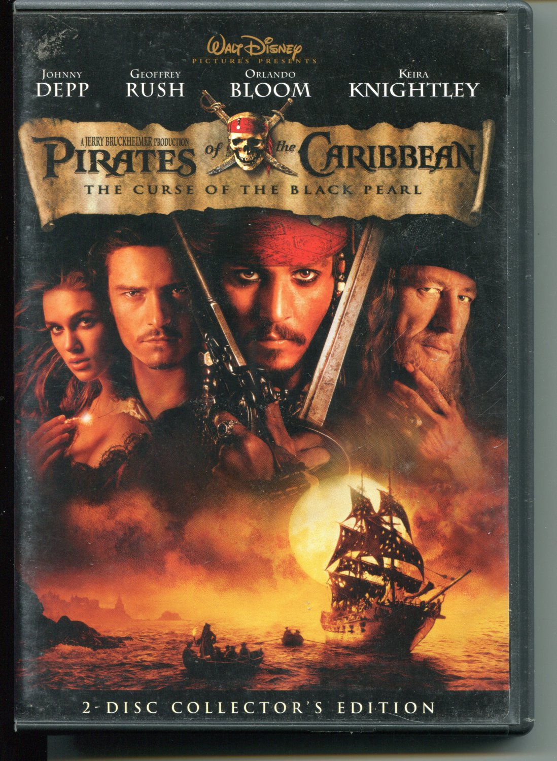 Pirates of the Caribbean: The Curse of the Black Pearl (DVD 2003)