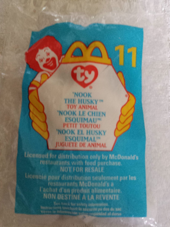 McDonald's Happy Meal Toy Ty Teenie Beanie Baby Nook the Husky #11