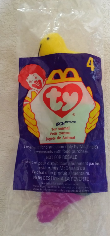 McDonald's Happy Meal Toy Ty Teenie Beanie Baby Inch the Worm #4