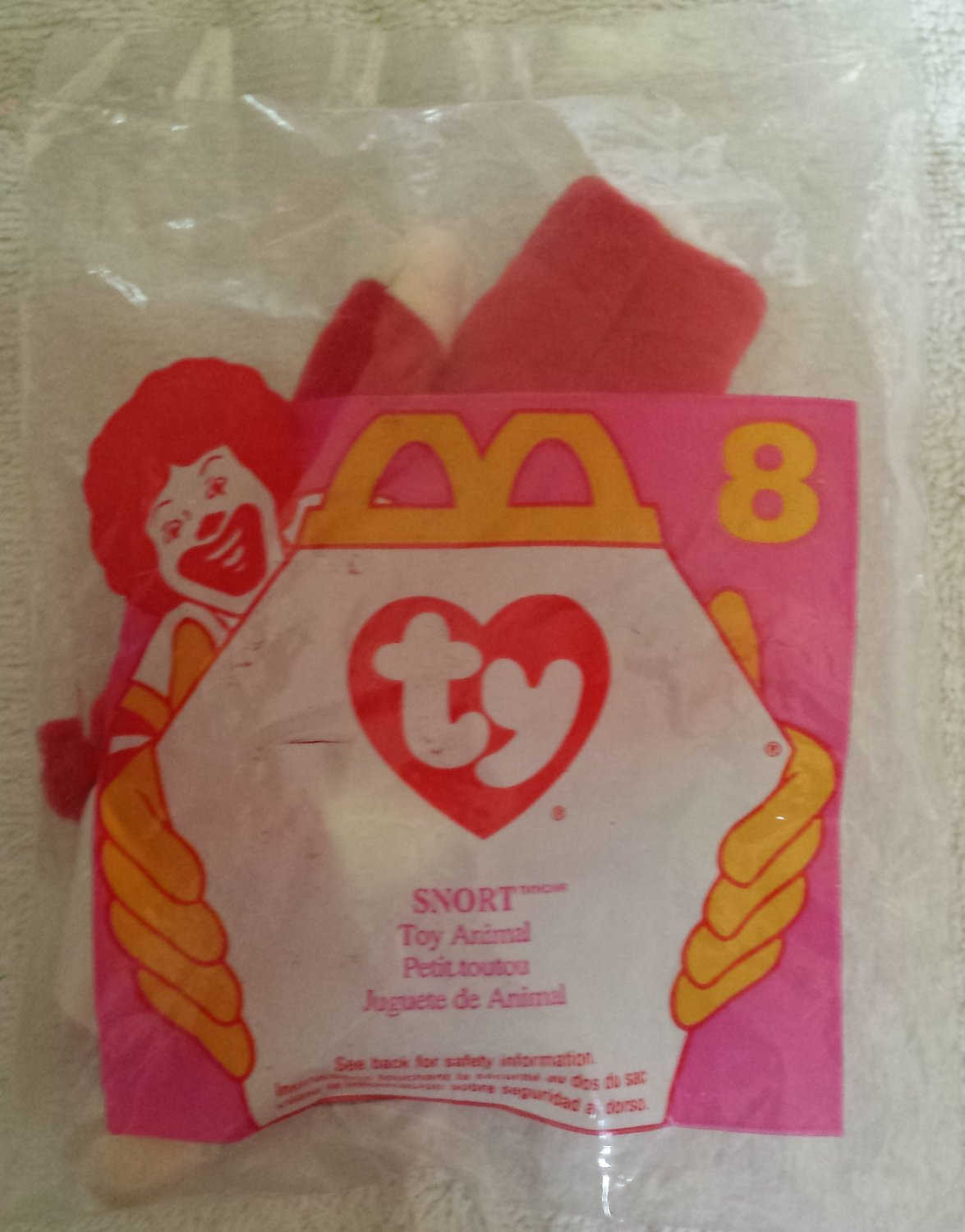 McDonald's Happy Meal Toy Ty Teenie Beanie Baby Snort the Bull #8