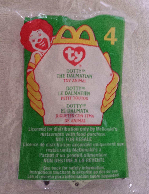 McDonald's Happy Meal Toy Ty Teenie Beanie Baby Dotty the Dalmation #4