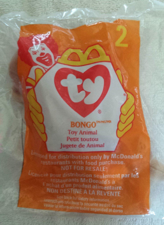 McDonald's Happy Meal Toy Ty Teenie Beanie Baby Bongo the Monkey #2