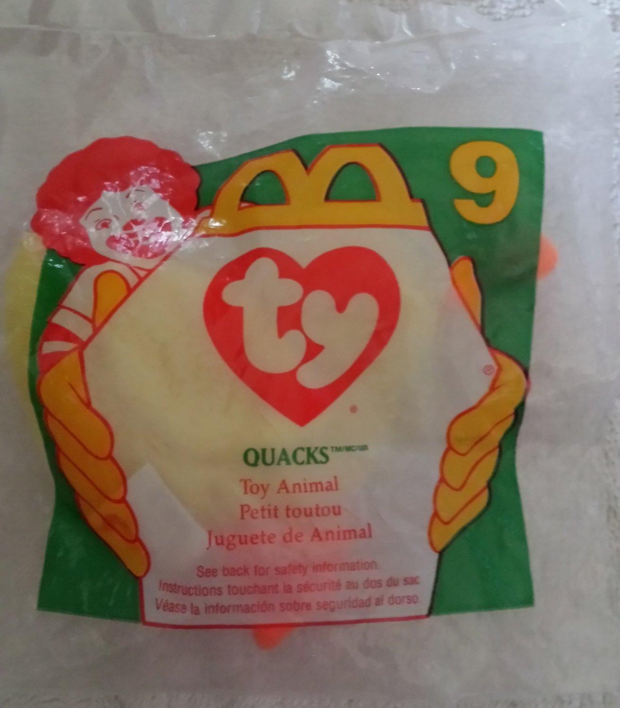 McDonald's Happy Meal Toy Ty Teenie Beanie Baby Quacks the Duck #9