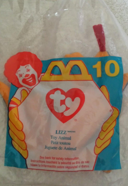 McDonald's Happy Meal Toy Ty Teenie Beanie Baby Lizz the Lizard #10