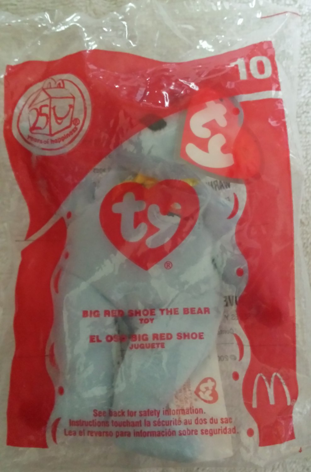 McDonald's Happy Meal Toy Ty Teenie Beanie Baby Big Red Shoe the Bear #10