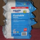 (5 packs) Equate Flushable Wipes 48 Wipes Per Pack 240 Wipes Total