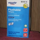(5 travel packs) Equate Flushable Wipes 18 Wipes Per Pack 90 Wipes Total